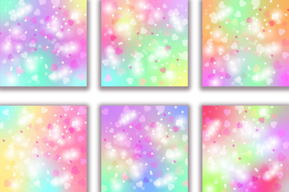 Unicorn Heart Bokeh Background Graphic Backgrounds By PinkPearly - Image 2