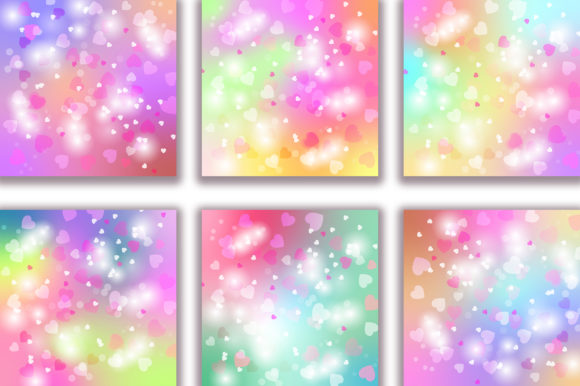 Unicorn Heart Bokeh Background Graphic Backgrounds By PinkPearly - Image 3