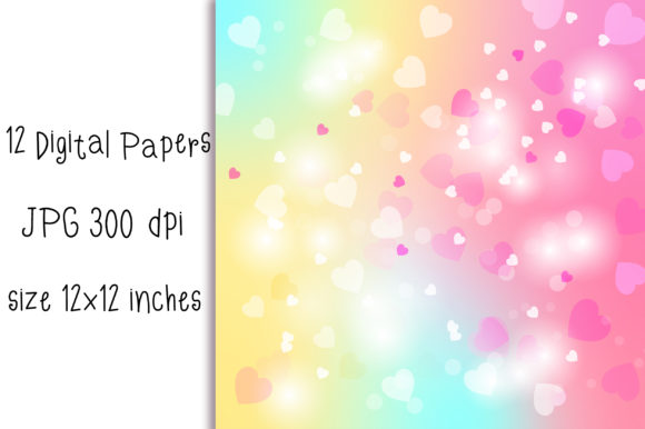 Download Free Unicorn Heart Bokeh Background Graphic By Pinkpearly Creative for Cricut Explore, Silhouette and other cutting machines.
