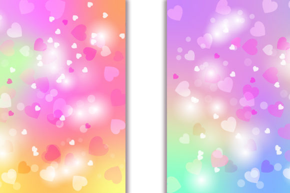 Unicorn Heart Bokeh Background Graphic Backgrounds By PinkPearly - Image 5