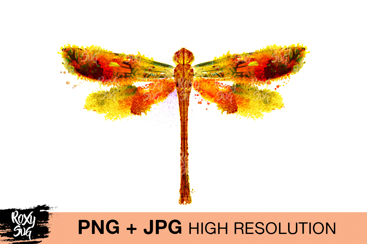 Download Free Watercolor Dragonfly Graphic By Roxysvg26 Creative Fabrica for Cricut Explore, Silhouette and other cutting machines.