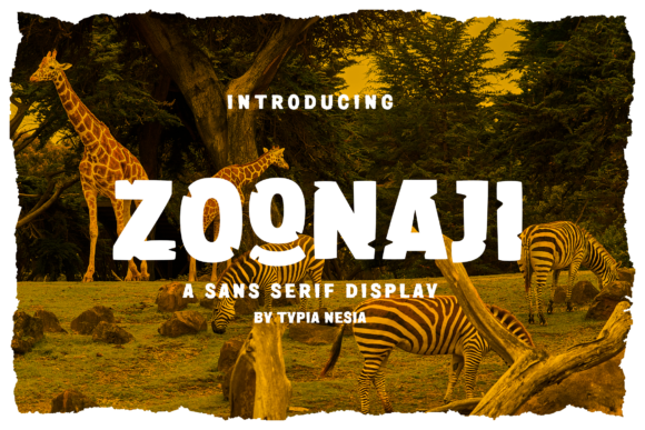 Print on Demand: Zoonaji Display Font By Typia Nesia