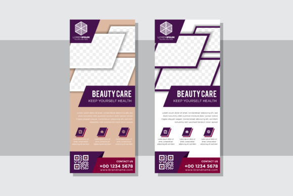 Download Free Beauty Rectangle Vertical Banner Purple Graphic By Noory Shopper for Cricut Explore, Silhouette and other cutting machines.