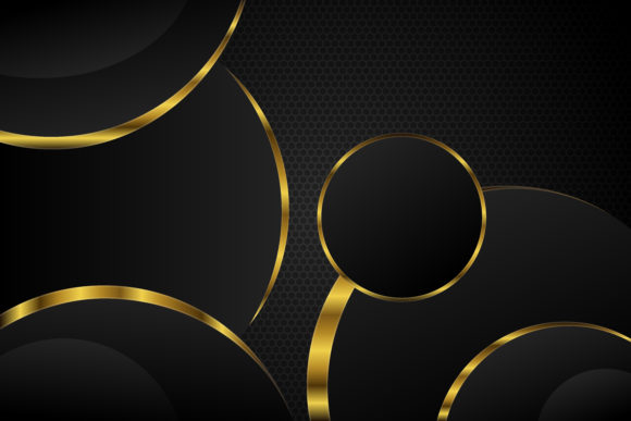 Download Free Black Gold Circle Background Gradient Graphic By Noory Shopper for Cricut Explore, Silhouette and other cutting machines.