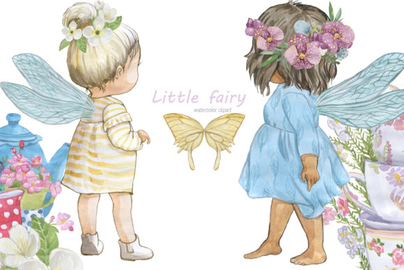 Print on Demand: Little Fairies Grafik Illustrationen von laffresco04
