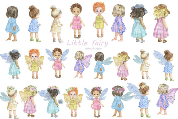 Download Free Little Fairies Graphic By Laffresco04 Creative Fabrica for Cricut Explore, Silhouette and other cutting machines.