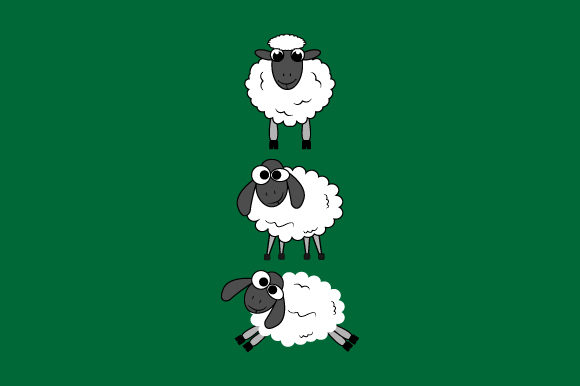 Print on Demand: Sheep Graphic Illustrations By curutdesign