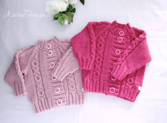 Baby Cardigan Knitting Pattern Graphic