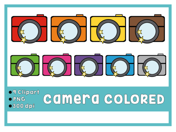 Camera Colored ClipArt Graphic Add-ons By Happy Kiddos