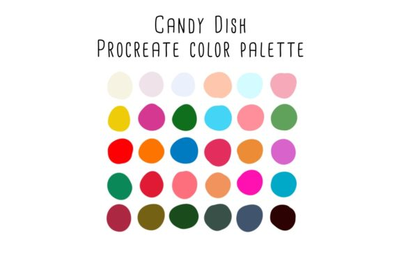 Print on Demand: Candy Dish Procreate Color Palette Graphic Add-ons By RoughDraftDesign
