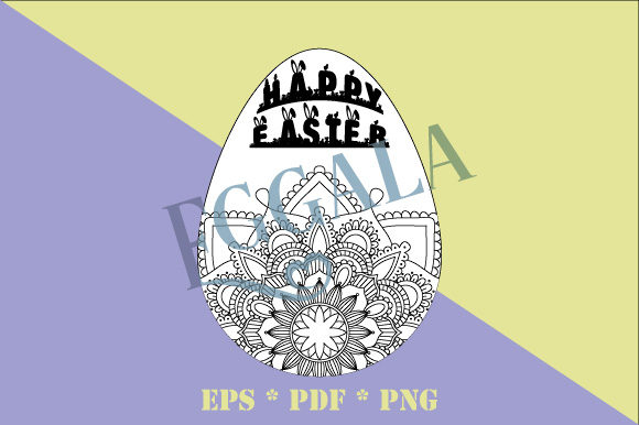 Print on Demand: Coloring Mandala Eggala Easter Egg EPS Graphic Coloring Pages & Books Adults By GraphicsFarm