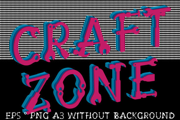 Print on Demand: Craft Zone CraftZone 3D EPS Vector Tools Graphic Illustrations By GraphicsFarm