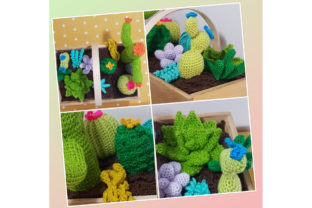 Crochet Cacti Book Graphic Crochet Patterns By Tangle Tree Creative