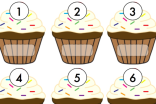 Cupcake Number Match Graphic K By Lory's Kindergarten Resources!