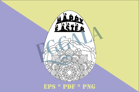 Print on Demand: Easter Egg Mandala Eggala Vector  Graphic Coloring Pages & Books Adults By GraphicsFarm