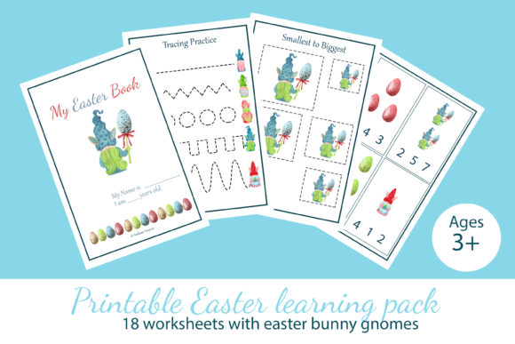Download Free Easter Card With Cute Easter Bunny Gnome Graphic By S Yanyeva for Cricut Explore, Silhouette and other cutting machines.