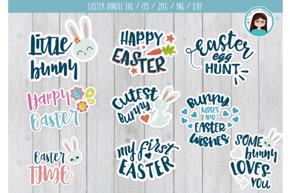 Download Free Easter Bundle Graphic By Cutelittleclipart Creative Fabrica for Cricut Explore, Silhouette and other cutting machines.