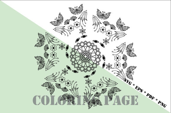 Download Free Garden Coloring Page Svg Eps Pdf Png Graphic By Graphicsfarm for Cricut Explore, Silhouette and other cutting machines.
