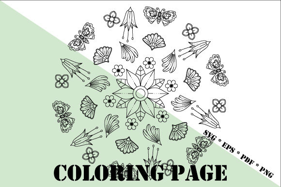 Print on Demand: Garden Coloring Page SVG EPS PDF PNG Graphic Coloring Pages & Books Adults By GraphicsFarm