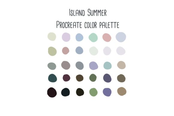Print on Demand: Island Summer Procreate Color Swatches Graphic Add-ons By RoughDraftDesign