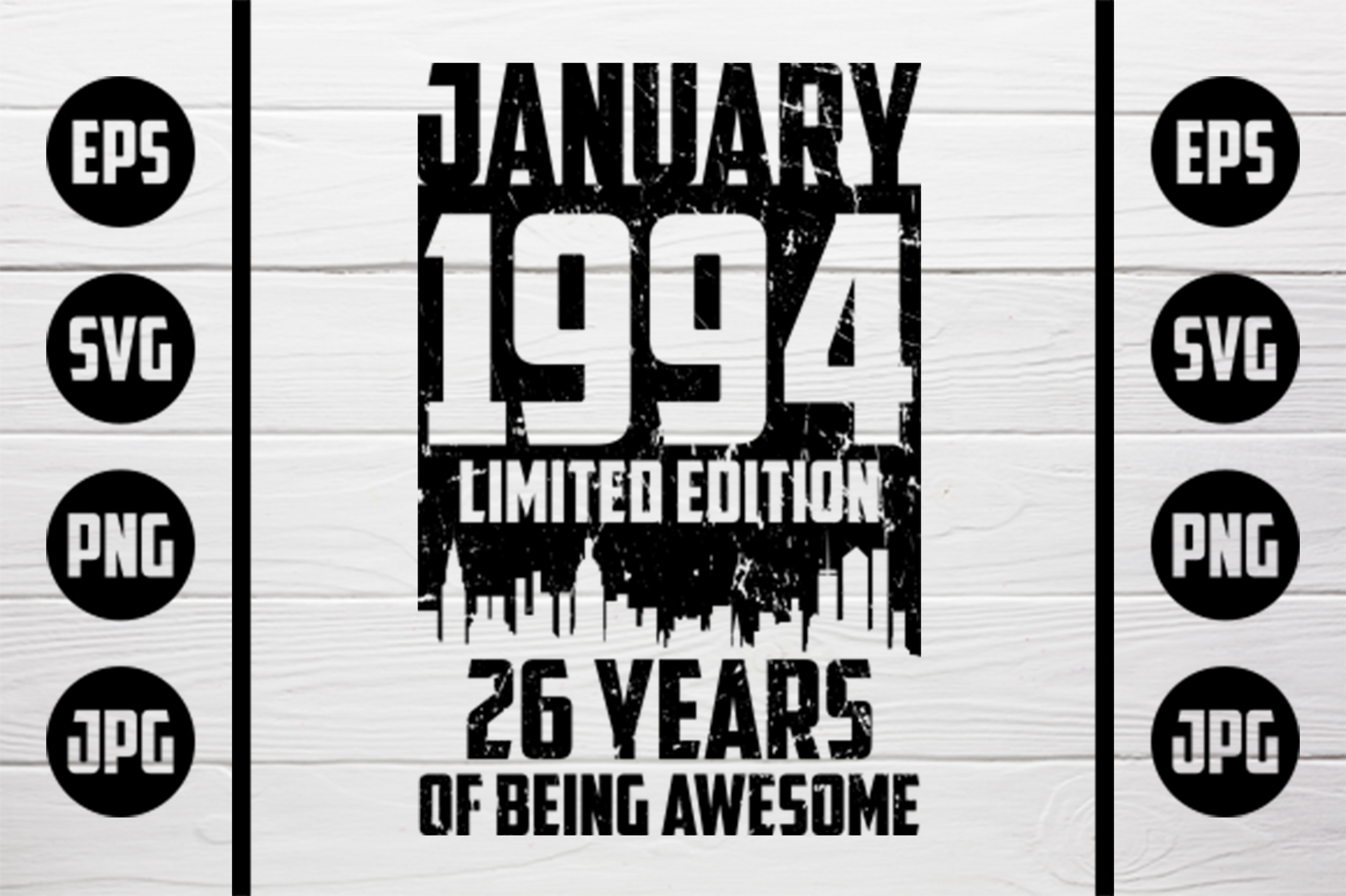 Download Free January 1994 Tshirt Design Graphic By Zaibbb Creative Fabrica for Cricut Explore, Silhouette and other cutting machines.