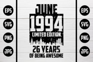 Download Free June 1994 Tshirt Design Graphic By Zaibbb Creative Fabrica for Cricut Explore, Silhouette and other cutting machines.