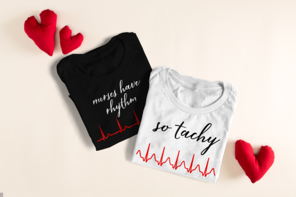 Nurse Heartbeat Puns Graphic Crafts By DesignedByGeeks