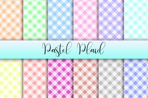 Pastel Plaid Background Digital Papers Graphic Backgrounds By PinkPearly