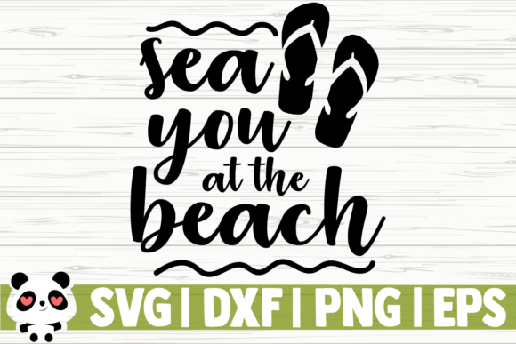Print on Demand: Sea You at the Beach Graphic Illustrations By CreativeDesignsLLC
