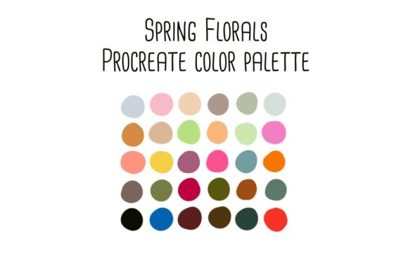 Print on Demand: Spring Florals Procreate Color Palette Graphic Add-ons By RoughDraftDesign
