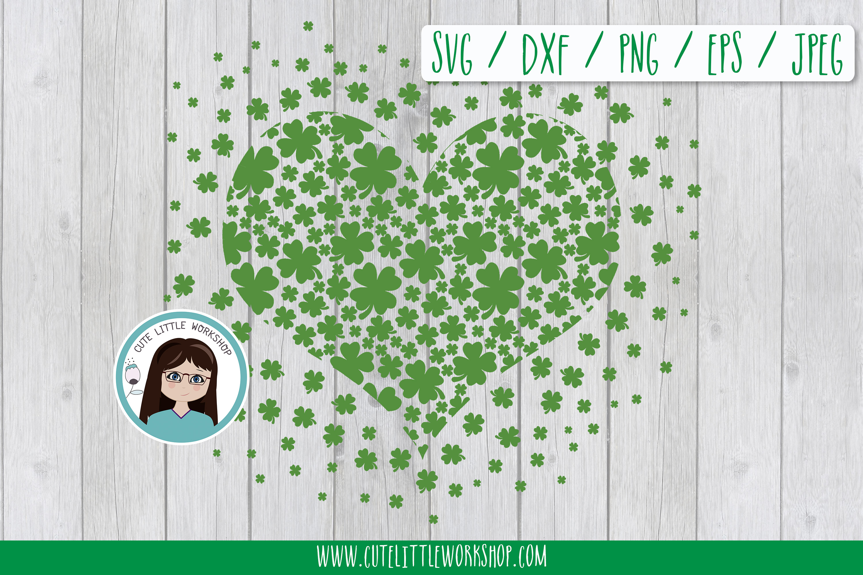 Download Free St Patrick Day Svg Heart Shamrock Dispe Graphic By for Cricut Explore, Silhouette and other cutting machines.