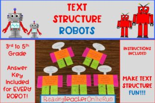 Text Structure Robots Graphic 3rd grade By Reading Teacher On The Run