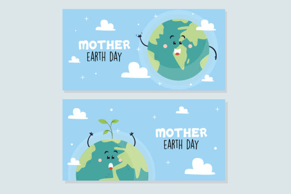 Download Free Mother Earth Day Hand Drawn Style Banner Graphic By Aprlmp276 for Cricut Explore, Silhouette and other cutting machines.