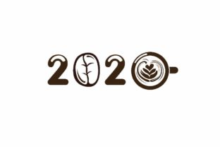 Download Free 2020 Typography With Coffee Symbol Logo Graphic By Aryo Hadi for Cricut Explore, Silhouette and other cutting machines.