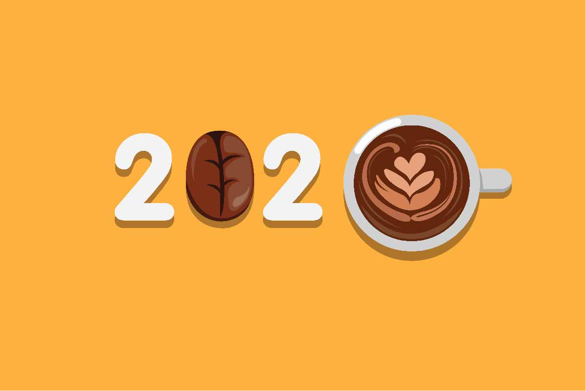 Download Free 2020 Greeting Typography With Coffee Graphic By Aryo Hadi for Cricut Explore, Silhouette and other cutting machines.
