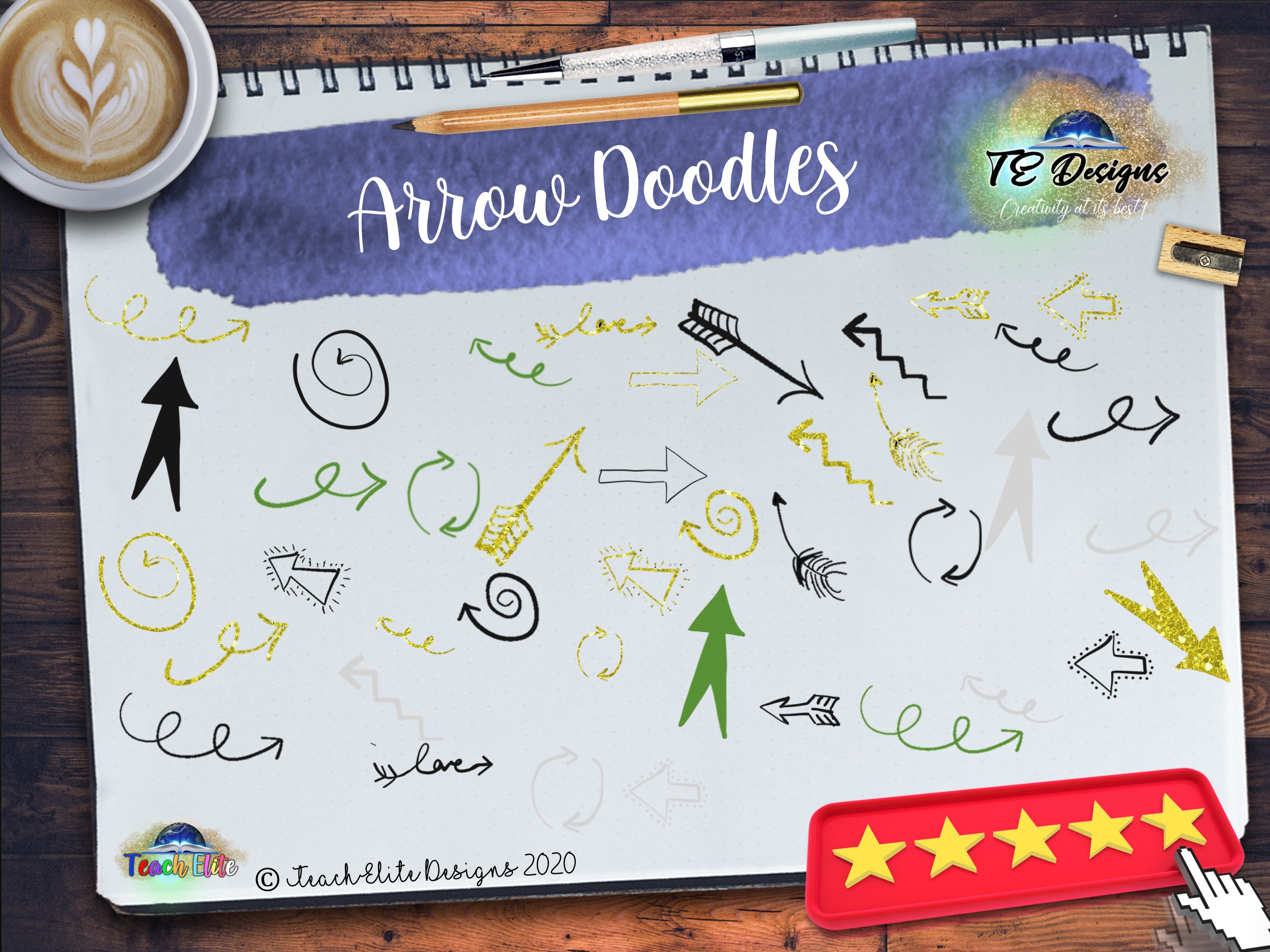Download Free Arrow Doodles Graphic By Te Designs Creative Fabrica for Cricut Explore, Silhouette and other cutting machines.