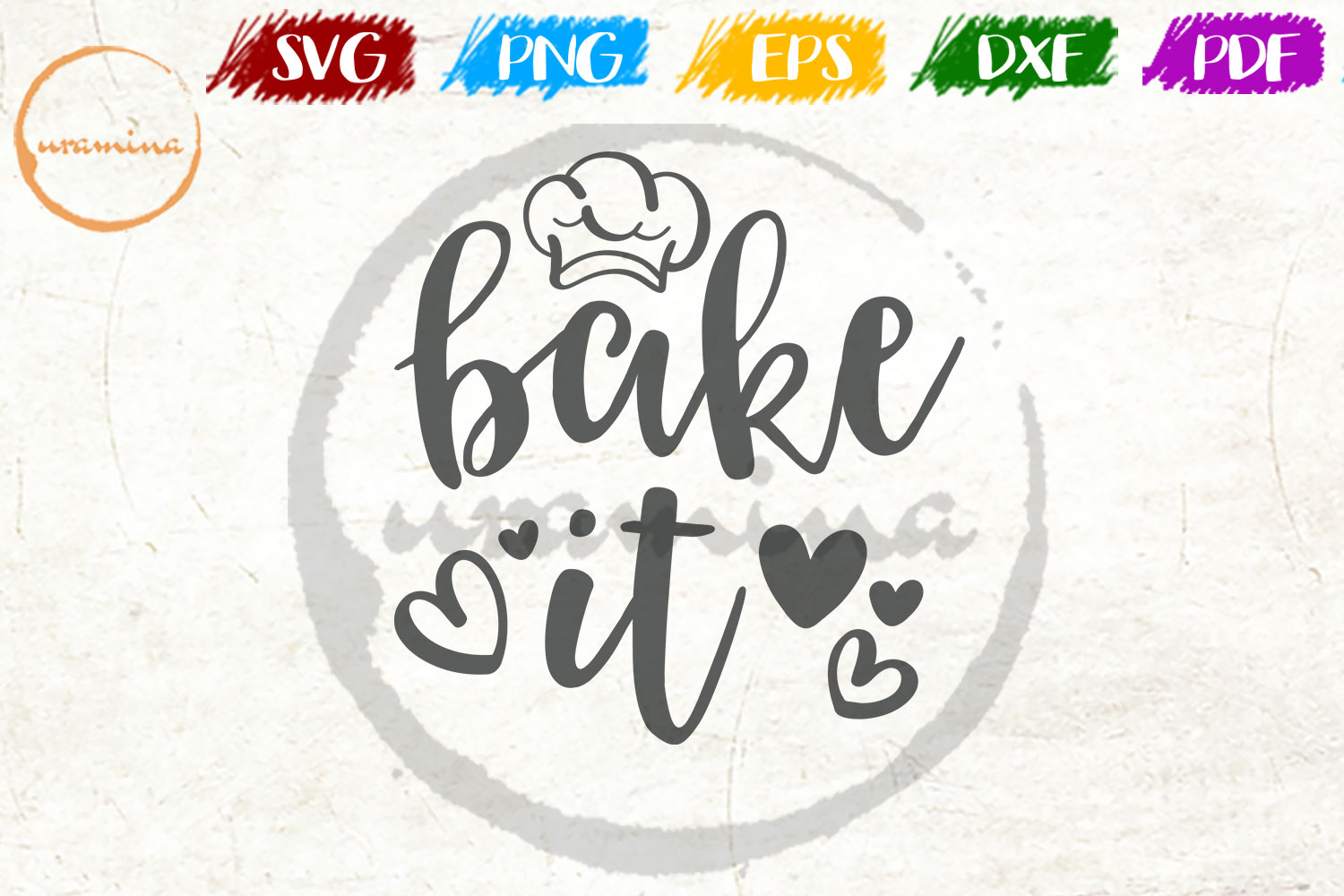 Download Free Bake It Graphic By Uramina Creative Fabrica for Cricut Explore, Silhouette and other cutting machines.