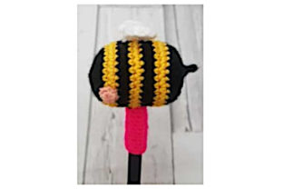 Bee Pen Topper Graphic Crochet Patterns By Tangle Tree Creative