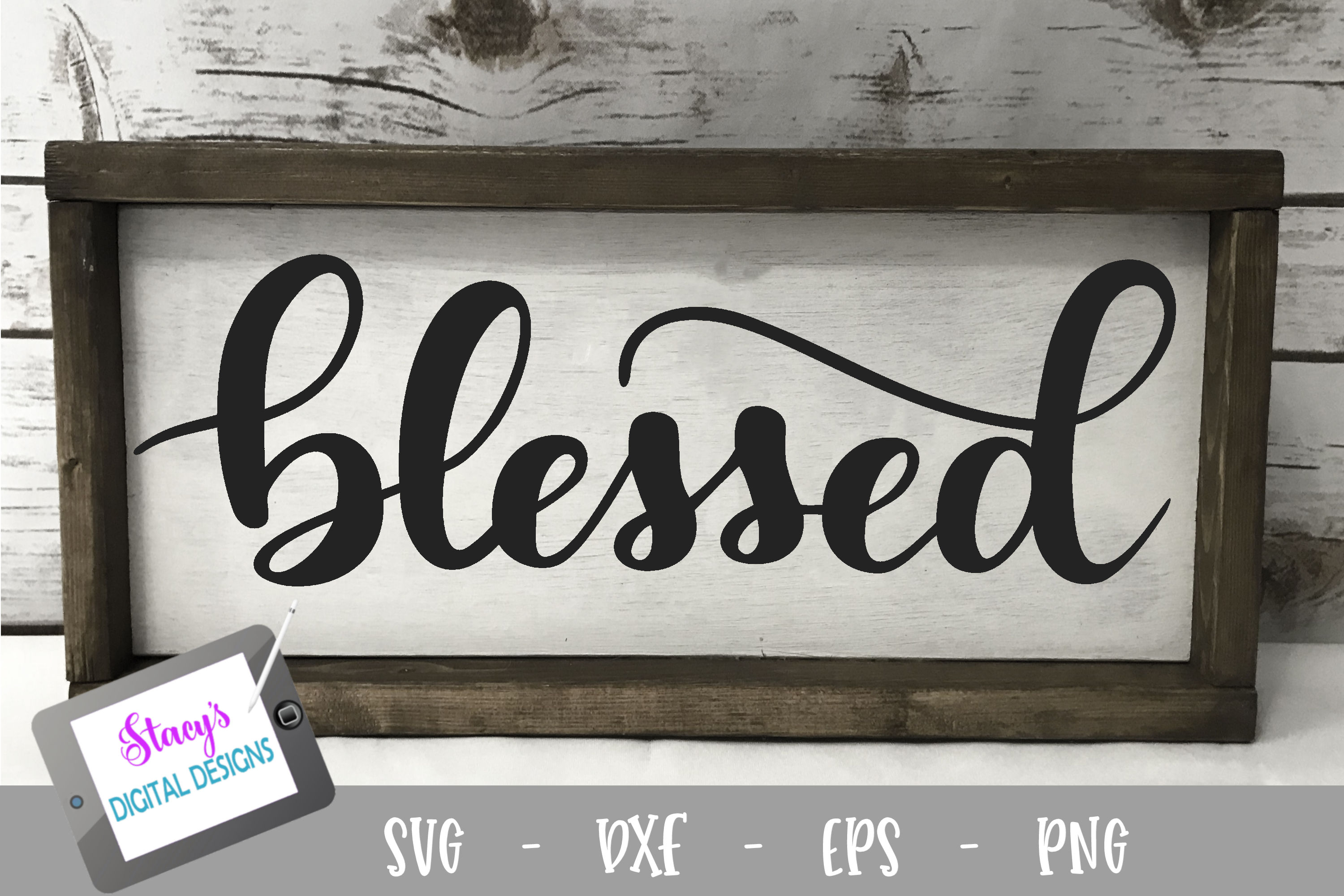 Download Free Blessed Christian Graphic By Stacysdigitaldesigns Creative for Cricut Explore, Silhouette and other cutting machines.