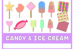Candy & Ice Cream ClipArt Graphic Illustrations By Happy Kiddos
