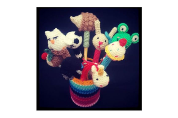 Cat Pen Topper Graphic Crochet Patterns By Tangle Tree Creative - Image 2