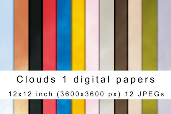 Print on Demand: Clouds Digital Papers Graphic Textures By Andrea Kostelic