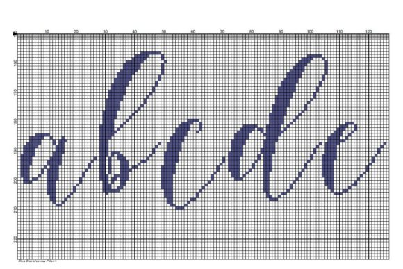 Download Free Cross Stitch Alphabet Graphic By X Stitcher Eva Creative Fabrica for Cricut Explore, Silhouette and other cutting machines.