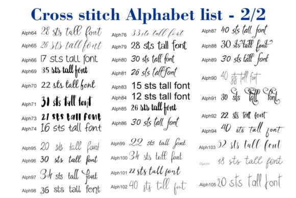 Cross Stitch Alphabet Graphic Preview