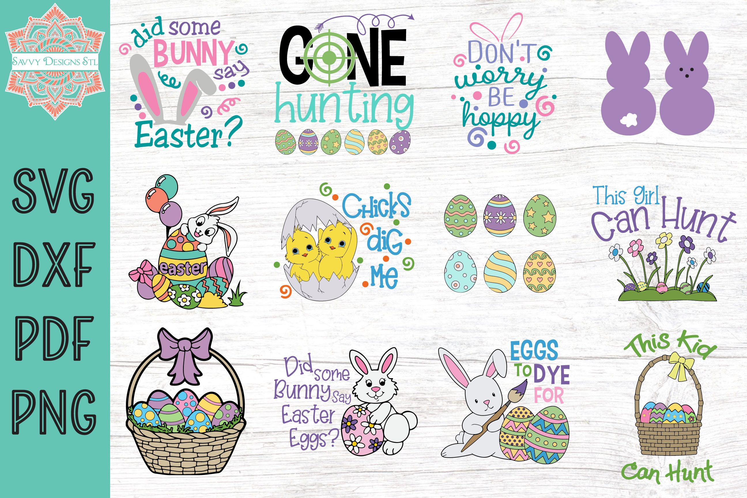 Download Free Easter Cut File Bundle Graphic By Savvydesignsstl Creative Fabrica for Cricut Explore, Silhouette and other cutting machines.
