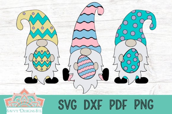 Print on Demand: Easter Gnomes Cut File Graphic Crafts By savvydesignsstl - Image 1