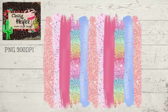Print on Demand: Easter Spring Pink Glitter Brush Stroke Graphic Backgrounds By Crazy Heifer Design Shoppe
