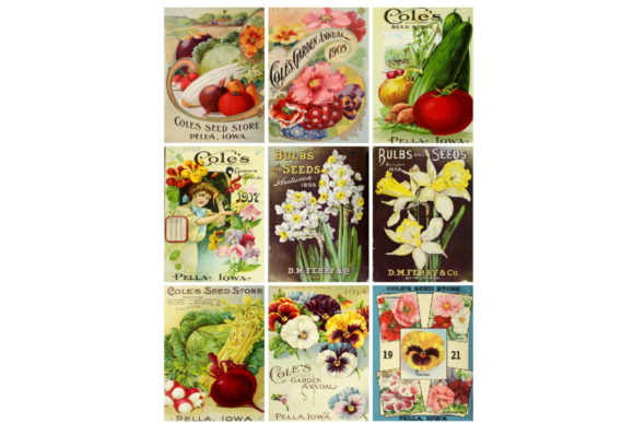 Download Free Ephemera Seed Packs Collage Sheet Atc Grafico Por Scrapbook for Cricut Explore, Silhouette and other cutting machines.