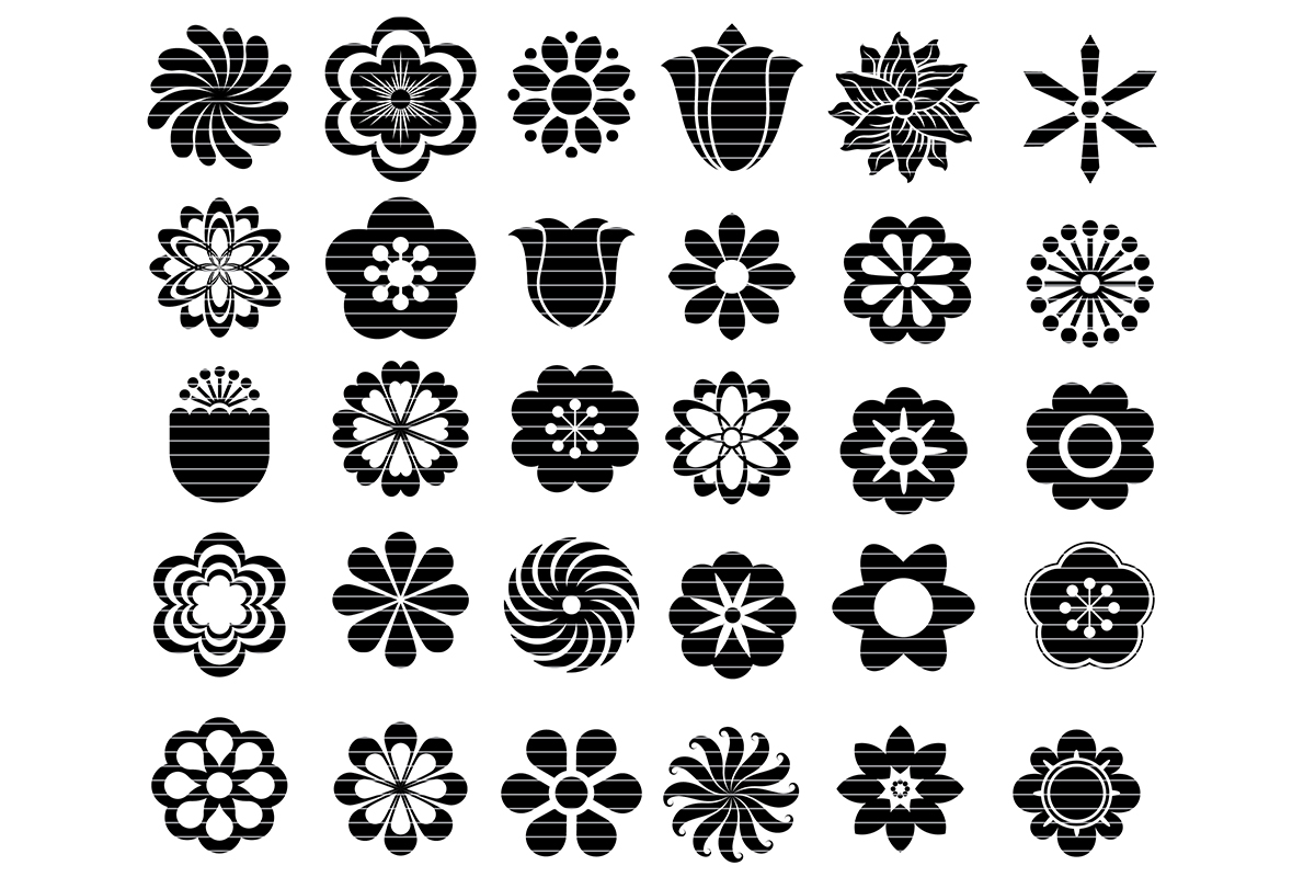 Download Free Flower Cut File Svg Clip Art Bundle Graphic By Meshaarts for Cricut Explore, Silhouette and other cutting machines.