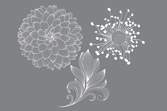Print on Demand: Flower Cut File Svg Graphic Crafts By MeshaArts